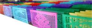 Papel picado tira 50m Color multicolor