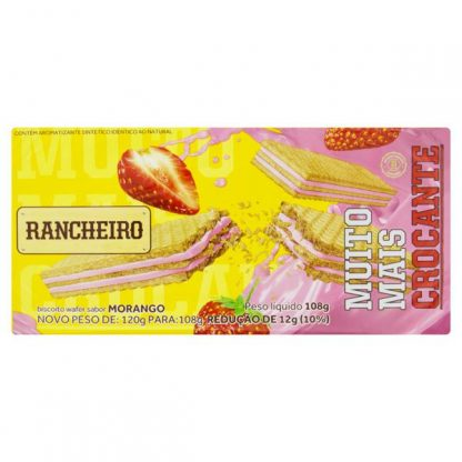 Wafer Rancheiro Morango 108g
